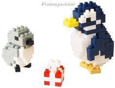 nanoblock - Post Card (Penguin) Gift
