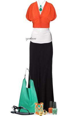 """Turquoise & Orange"" by cynthia335 on Polyvore"