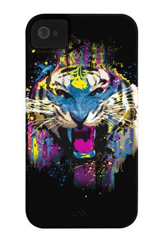 Funked Up Tiger Phone Case for iPhone 4/4s,5/5s/5c, iPod Touch, Galaxy S4