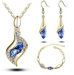 Austrian Crystal Jewelry Set