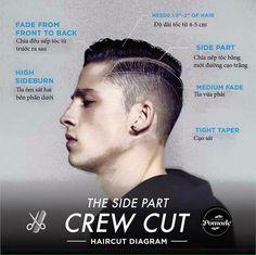 Side part crew cut