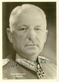 Feldmarschall ERICH VON MANSTEIN: most probably the Wehrmacht´s best strategist