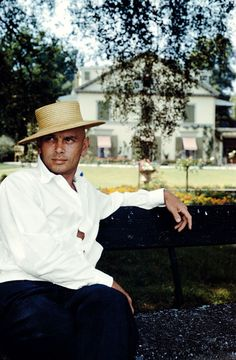 Yul Brynner - At home, Chanivaz, Switzerland, 1962, photograph by Inge Morath