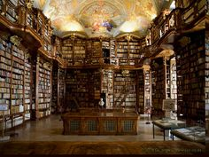 "Real life ""Beauty and the Beast""-esque library: St. Florian's Priory, Sankt Florian, Upper Austria, Austria."