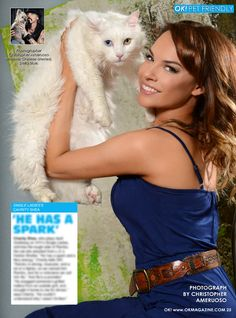 It's Kitty day in my OK! Pets page in OK! magazine. Today we feature Charity Shea star of VH1's Single Ladies and her cat Rambo. Pick up a copy on stands today