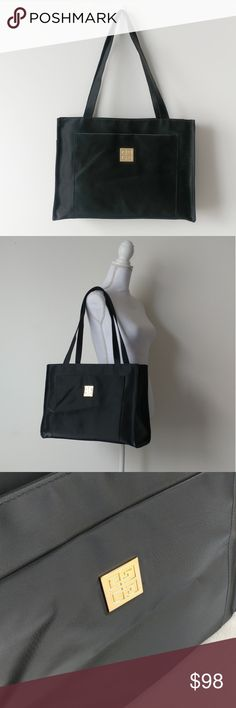 """+G I V E N C H Y + Large Travel Tote Material: 100% PVC Condition: NWOT  15""""L  12.5""""H  4.5""""W 💯% Authentic   Zipper closure. 2 outer pockets. 1 interior pocket. Givenchy zipper pull.  Unused condition. Cell phone pouch still attached inside and front logo plaque is covered with plastic as originally sold. No dust bag. No rips, stains, or discoloration. Givenchy Bags Totes"""