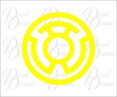 Yellow Lantern Corps logo Vinyl Decal, DC Comics, Green Lantern #DecalDrama