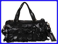 deedeba1620c Iblue Womens Lambskin Doctor Style Chic Shoulder Bag Crossbody Stachel Bag  12.9 Inch  710 (
