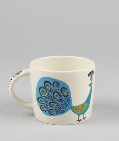 Hannah Turner Peacock Mug - Trouva
