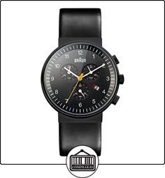 Braun BN0035BKBKG - Reloj cronógrafo de caballero de cuarzo con correa de piel negra de  ✿ Relojes para hombre - (Gama media/alta) ✿