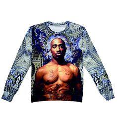 084d0961b Raisevern new summer harajuku tupac sweatshirt long sleeve o neck thug life  print sweatshirts tupac shakur clothing top. valentina · tupac shirts woman