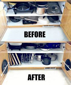 Organizing The Dreaded Pots and Pans Cabinet! · One Good Thing by Jillee