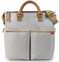 Skip Hop Duo Special Edition Baby Diaper Bag French Stripe NEW