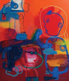 "Saatchi Art Artist deny pribadi; Painting, ""trader"" #art"