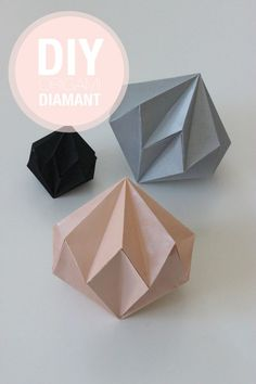 Geometric paper ornaments. Not in English, but step by step photo guide
