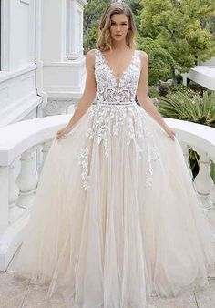 Mikayla A-line Wedding Dress by Blue by Enzoani - WeddingWire.com Wedding Dress Pictures, Cute Wedding Dress, Best Wedding Dresses, Bridal Dresses, Gown Wedding, Wedding Cakes, Wedding Rings, Most Beautiful Wedding Dresses, Weeding Dresses