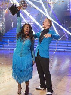 Season 17 winners - Amber Riley & Derek Hough