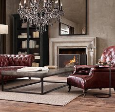 10 stylish living room chairs – Diplomat leather club cha