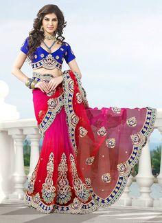 alluring-magenta-and-pink-net-saree-800x1100.jpg (800×1100)