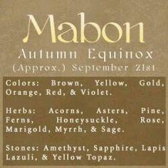 Sabbats- Wiccan & Pagans celebrate Mabon