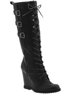 These black boots are on sale for like $30 bucks! Maybe I should just get them? But ... that heel ...