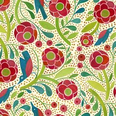 Manufacturer: In the Beginning  Designer: Julie Paschkis; Fabric Pattern: Birds in the Flowers
