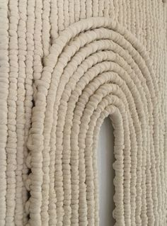 Detail of macrame piece by Sally England