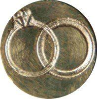 Amazon.com: Wedding Rings Brass Wax Seal Stamp: Office Products