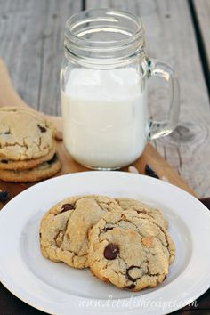 Browned Butter Peanut Butter Chocolate Chip Cookies