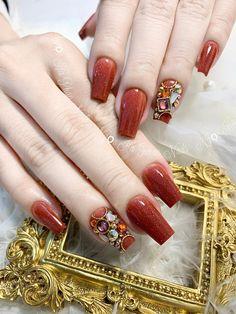 Nail Designs Easy Diy, Gel Designs, Nail Art Designs, 3d Flower Nails, Ombre Bob, Bob Lace Front Wigs, Bride Nails, Nail Swag, Gold Nails
