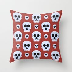 Pattern de los muertos 4 Throw Pillow