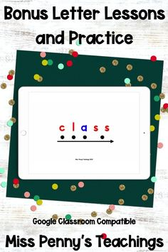 Visit my Teachers Pay Teachers store (Miss Penny's Teachings) to get this digital interactive bonus letters resource. Perfect for remote learning, teaching, assessing, extra practice, and more!