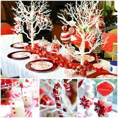 Candy cane Christmas party http://www.karaspartyideas.com/2013/12/candy-cane-winter-wonderland-themed-christmas-party.html