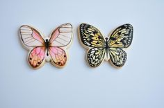 2 Painted Butterflies Cookies   Cookie Connection