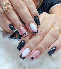 French Tip Nail Designs, French Tip Nails, Cool Nail Designs, Les Nails, Nail Salon Design, Nail Designer, Best Acrylic Nails, Fall Nail Art, Nail Art Hacks