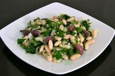 Ξερά φασόλια σαλάτα: το πιάζι ή πιάζ Greek Cooking, Chutney, Sprouts, Asparagus, Dips, Salads, Meat, Chicken, Vegetables