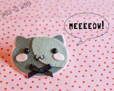 Resultado de imagen de brooch felt cat