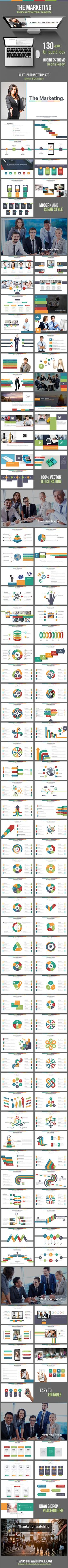 The Marketing - Business Powerpoint Template #slides #design Download: http://graphicriver.net/item/the-marketing-business-powerpoint-template/11740170?ref=ksioks