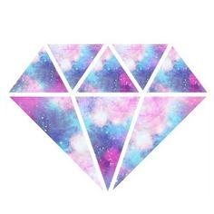 Un diamante de fantasia y galaxia