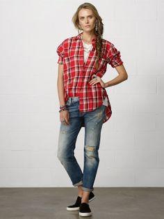 Plaid Big-Pocket Shirt - Long-Sleeve  Shirts - RalphLauren.com