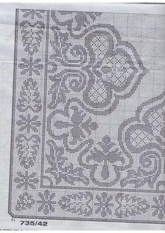 "Photo from album ""Burda special Filet au Crochet"" on Yandex. Fillet Crochet, Crochet Patterns, Cross Stitch, Simple, Yandex Disk, Craft Ideas, Tools, Cross Stitch Embroidery, World"