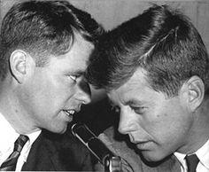 Bobby and John Kennedy