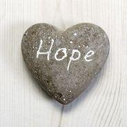 Sentiment Pebble Effect Heart ornament, hope