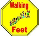 Walking Feet Sign  - This poster is used as a visual reminder of what their feet should be doing as they walk in the classroom or in the hallway.  ...