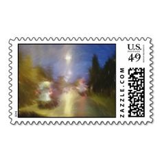 driving in a car postage stamps