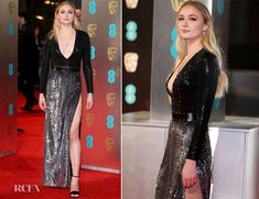 If you were looking for sequins, Sophie Turner bought them to the 2017 BAFTAs on Sunday (February 12) in London, England. The 'Game Of Thrones' star sparkl
