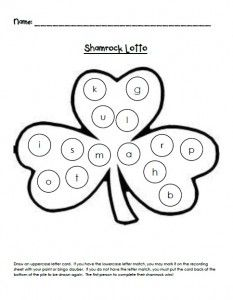 {Shamrock Lotto} St. Patrick's Day Letter Practice - Re-pinned by @PediaStaff – Please Visit http://ht.ly/63sNt for all our pediatric therapy pins