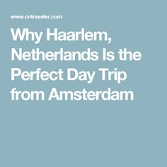Why Haarlem, Netherlands Is the Perfect Day Trip from Amsterdam