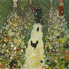 Gustav Klimt Garden Path with Chickens painting for sale, this painting is available as handmade reproduction. Shop for Gustav Klimt Garden Path with Chickens painting and frame at a discount of off. Chicken Painting, Chicken Art, Roast Chicken, Art Nouveau, Art Klimt, Art Graphique, Love Art, Painting & Drawing, Art History