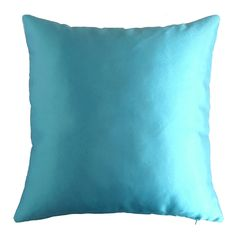 Blue Decorative Satin Throw Pillow Covers Shimmery Texture Pillowcase 16x16 Inches. ★The price is for 1 pillow covers ★Pillow cover ONLY - Pillow insert is NOT included. ★Very bright shiny fabric has a light leather texture, 100% polyester. ★Holds shape well; washable; dries and cleaning quickly ★Does not lose color and fade in the sun ★Zipper on the side. ★Same color on both sides.